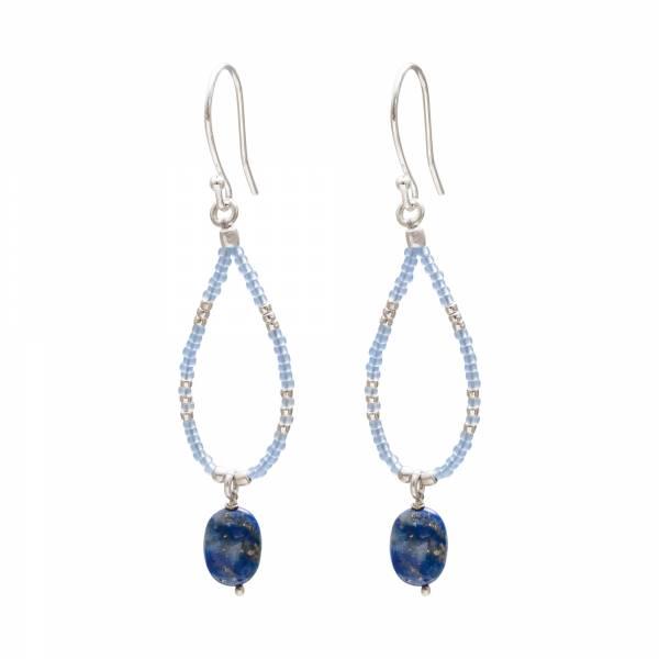Enjoy Lapis Lazuli Silver Earrings