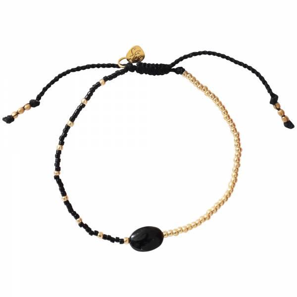 Ruby Zwarte Onyx Goud Armband