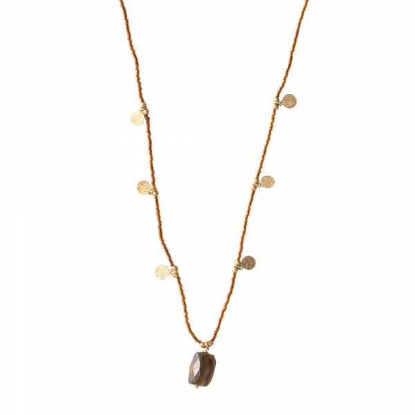 Charming Tigerauge Gold Halskette