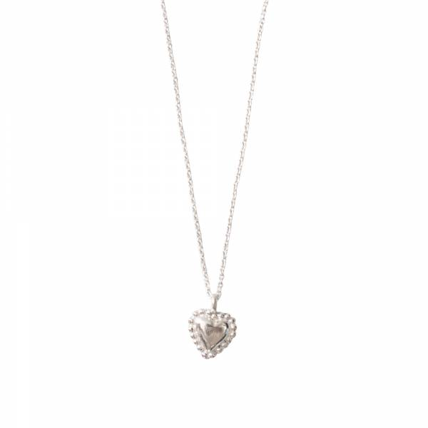 Delicate Heart Silver Necklace