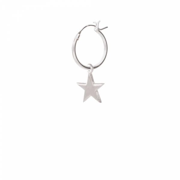 Großen Stern Sterlingsilber Ohrring