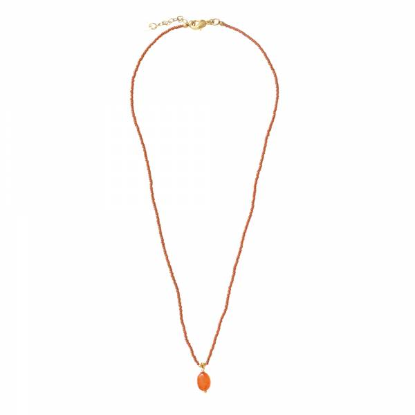 Magical Carnelian Gold Necklace