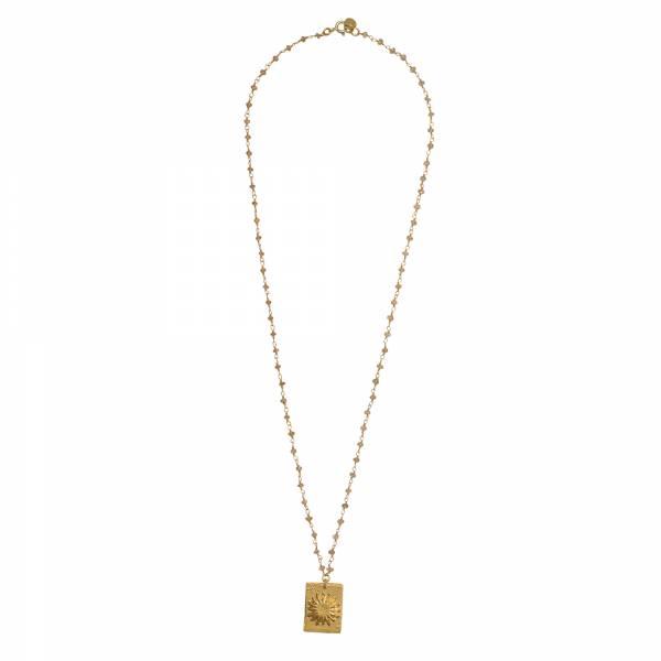 Radiate Citrine Gold Necklace