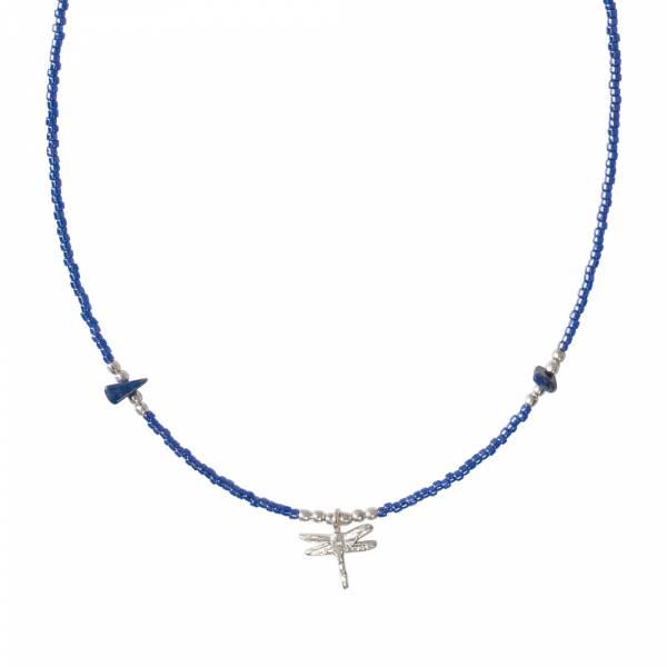 Wildflower Lapis Lazuli Silver necklace