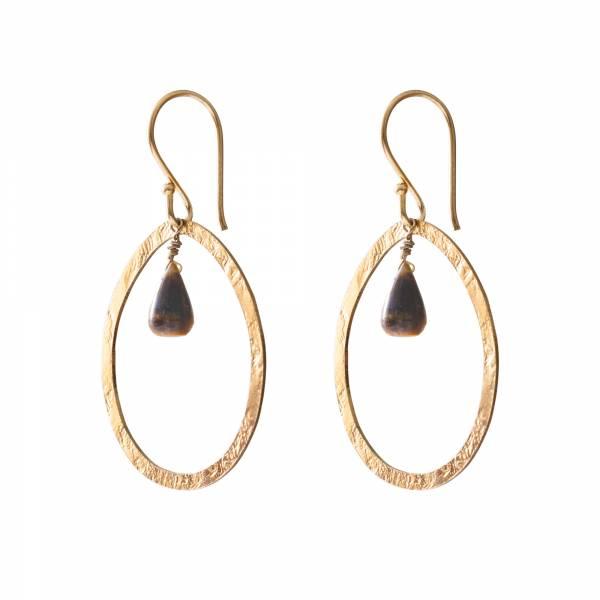 Powerful Tiger Eye Gold earrings