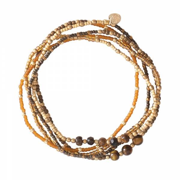 Together Tiger Eye Gold bracelet