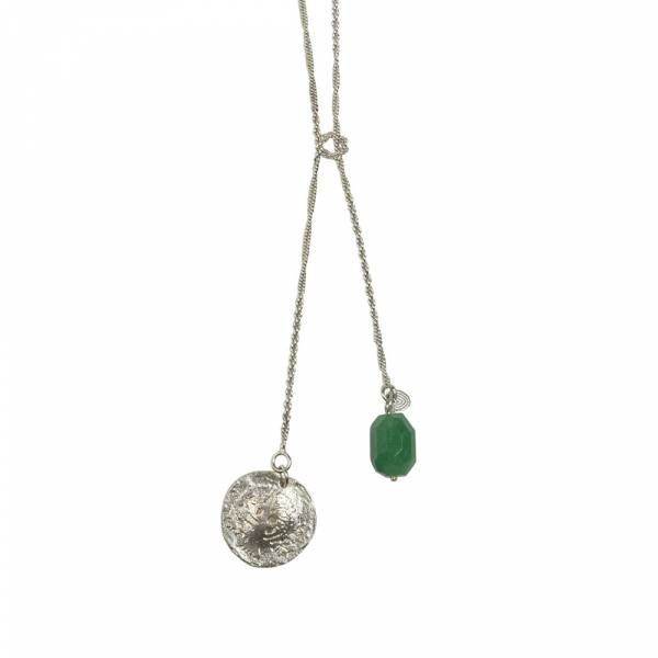 Magic Aventurine silver necklace