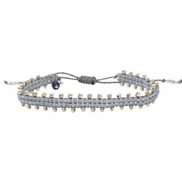 Happiness Lapis Lazuli Silver Bracelet