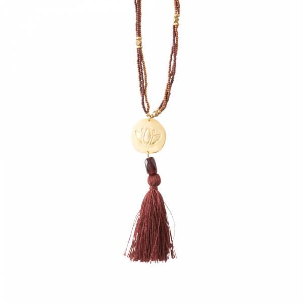 Easy Garnet Gold Necklace