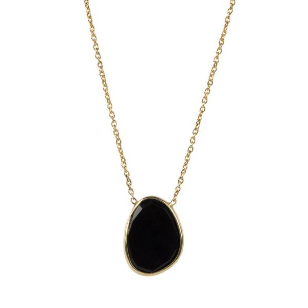 Tender Black Onyx Sterling Silver Gold-Plated Necklace