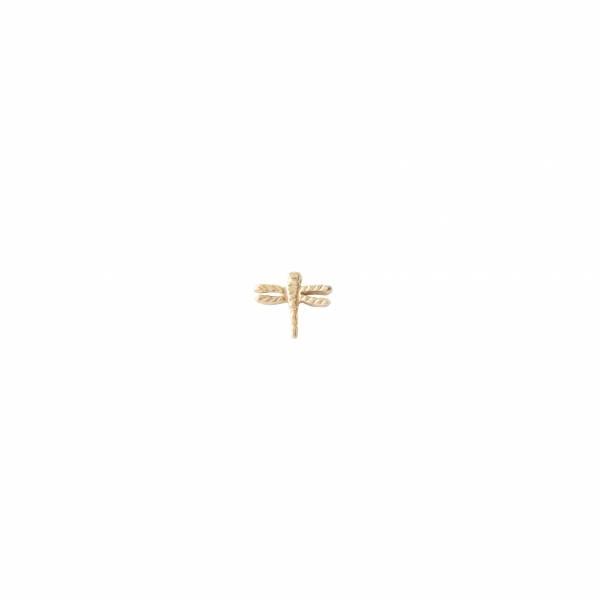 Libelle Sterlingsilber vergoldete Ohrring
