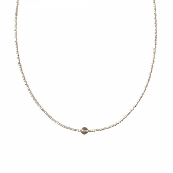 Flora Rauchquarz Silber Halskette
