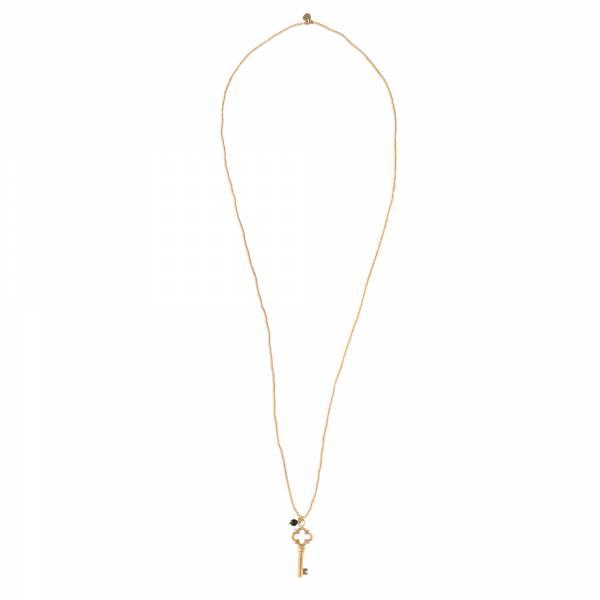 Paradise Black Onyx Gold Necklace