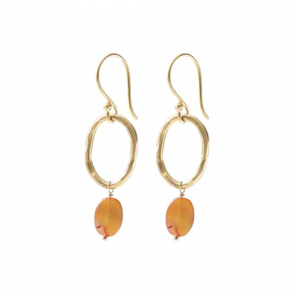 Graceful Carnelian Gold Earrings
