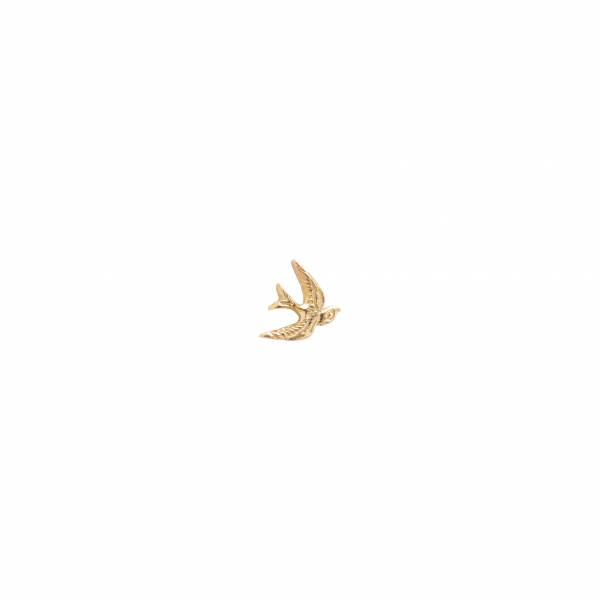 Swallow Sterling Silver Gold-Plated Earring