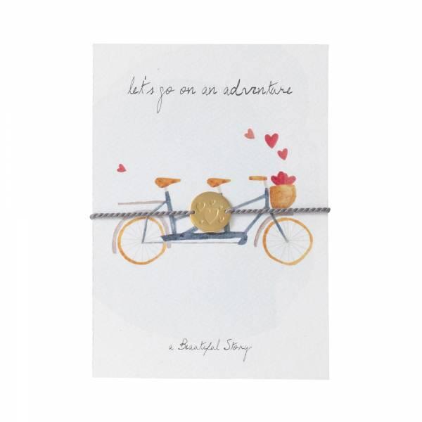Jewelry Postcard Tandem Bike
