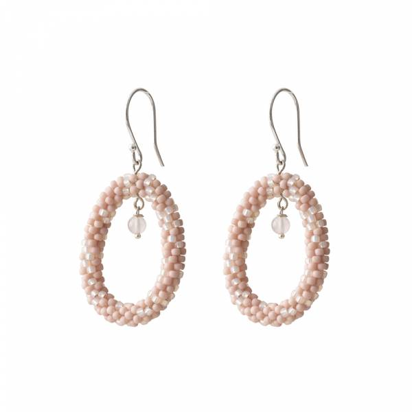 Faith Rose Quartz Silver Earring