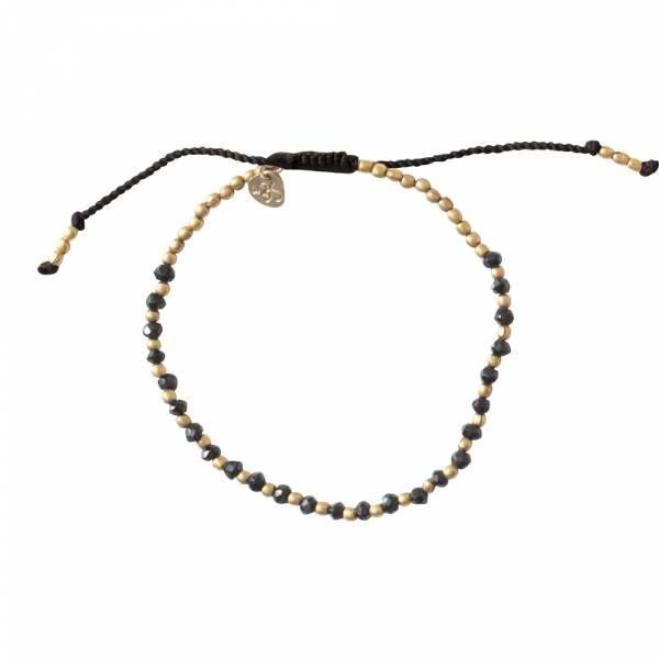 Beautiful Zwarte Onyx Goud Armband