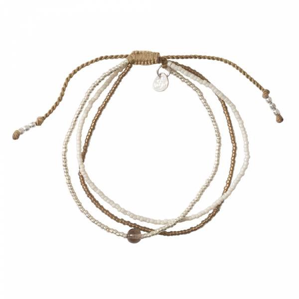 Bloom Smokey Quartz Silver bracelet