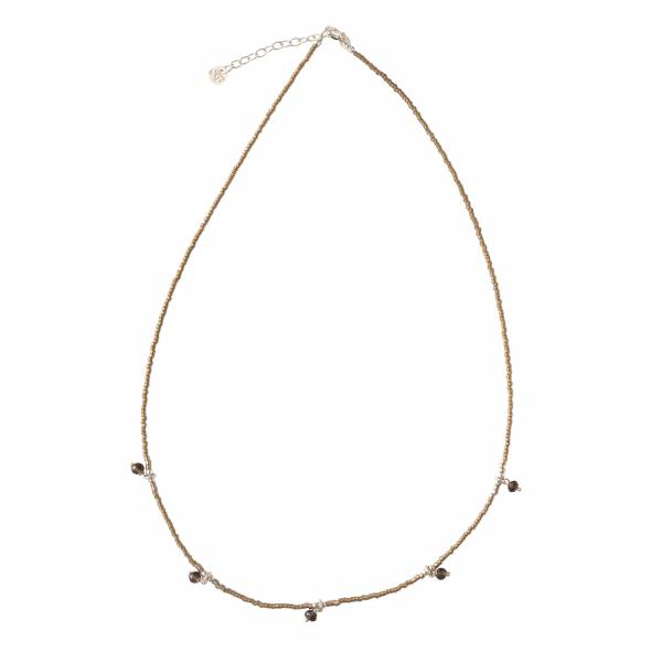 Cocoon Smokey Quartz Silver Necklace