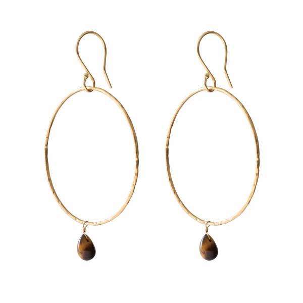 Embrace Tiger Eye Gold earrings