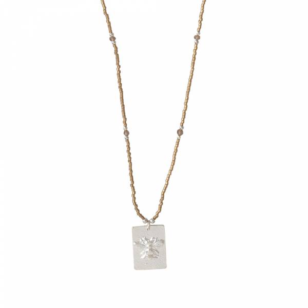 Delight Smokey Quartz Silver necklace