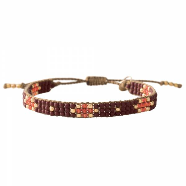 Summerlight Garnet Gold Bracelet
