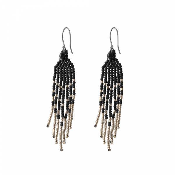Favorite Black Onyx Silver Earring