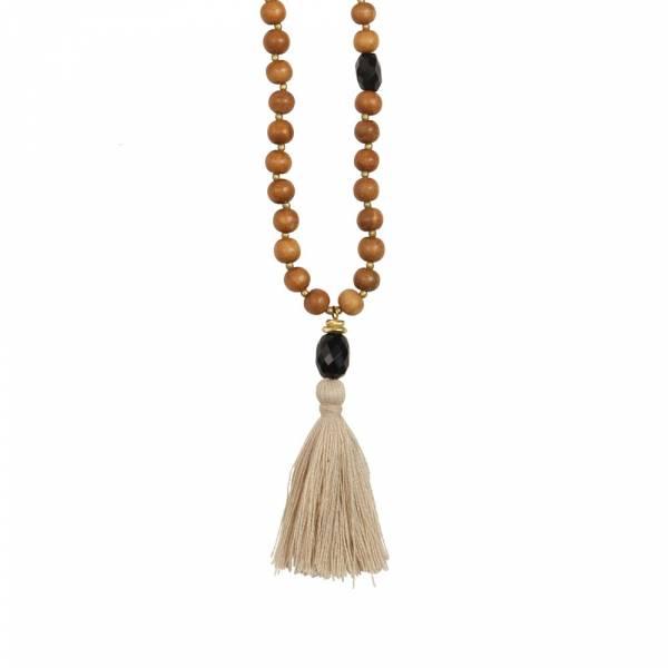 Gypsy Black Onyx sandel wood necklace