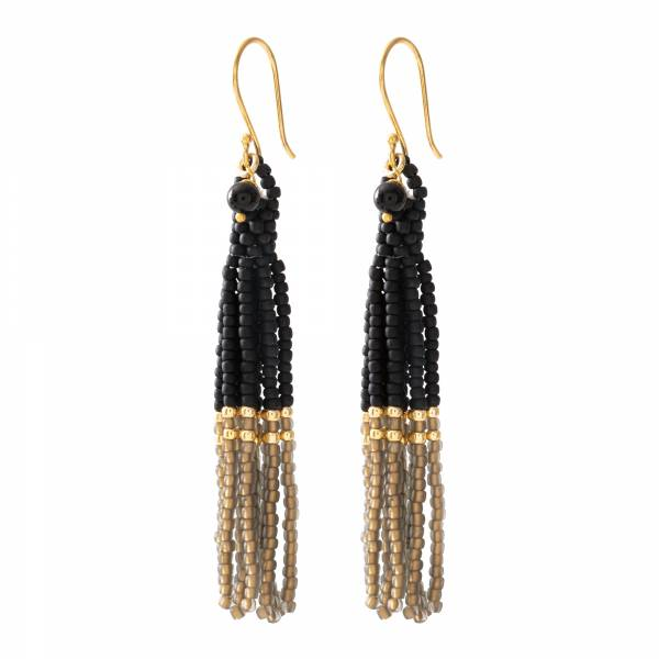 Dream Black Onyx Gold Earrings
