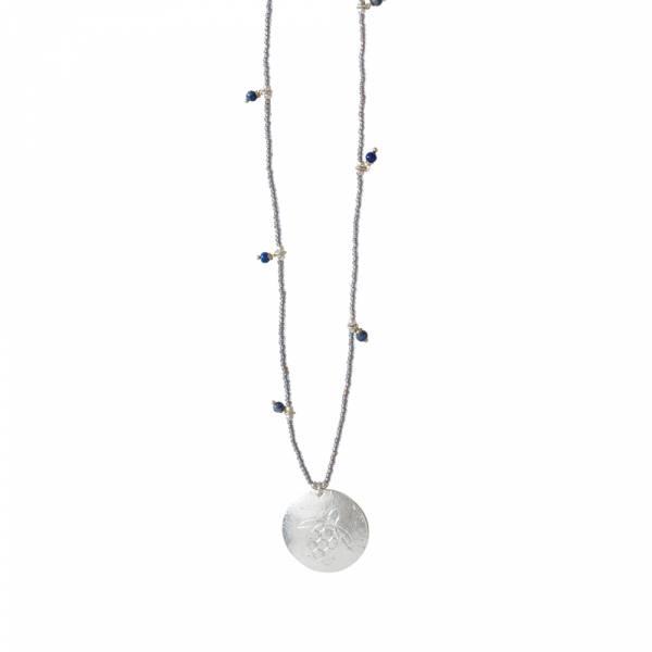 Radiant Lapislazuli Silber Halskette