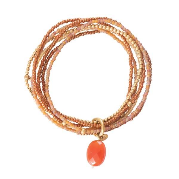 Nirmala Karneol Gold Armband