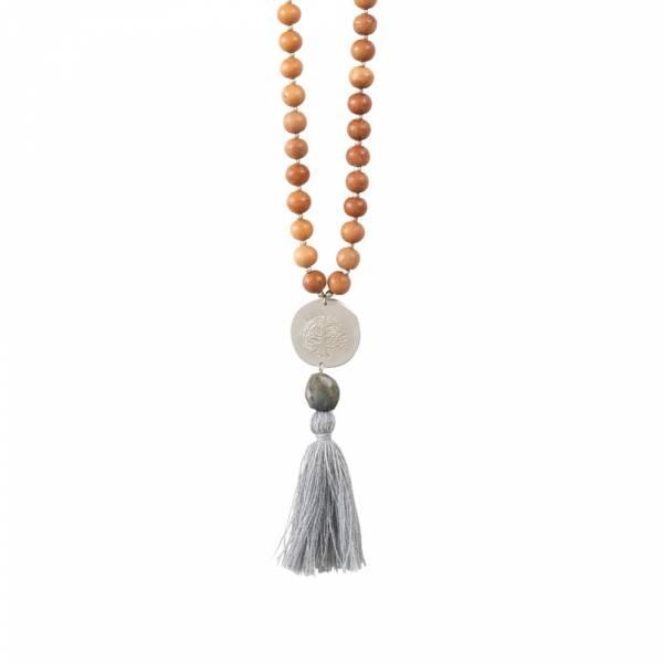 Satya Labradorit Baum Silber Halskette