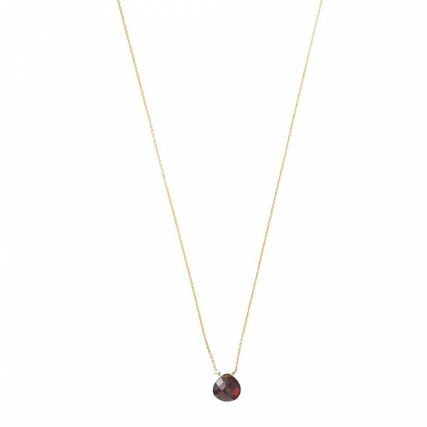 Divine Garnet Gold Necklace