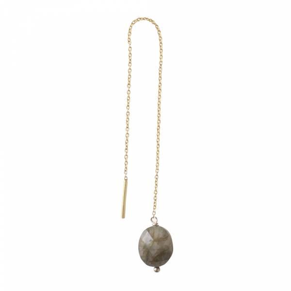 Elegant Labradorite Sterling Silver Gold-Plated Earring