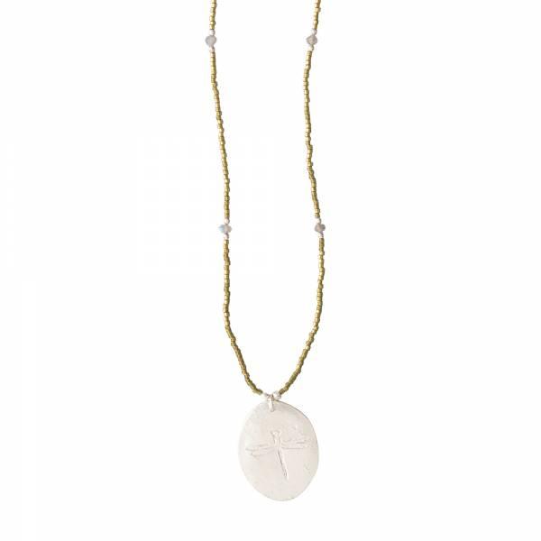 Swing Labradorite Silver Necklace