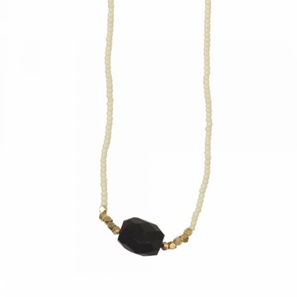 Joy Schwarzen Onyx Gold Halskette