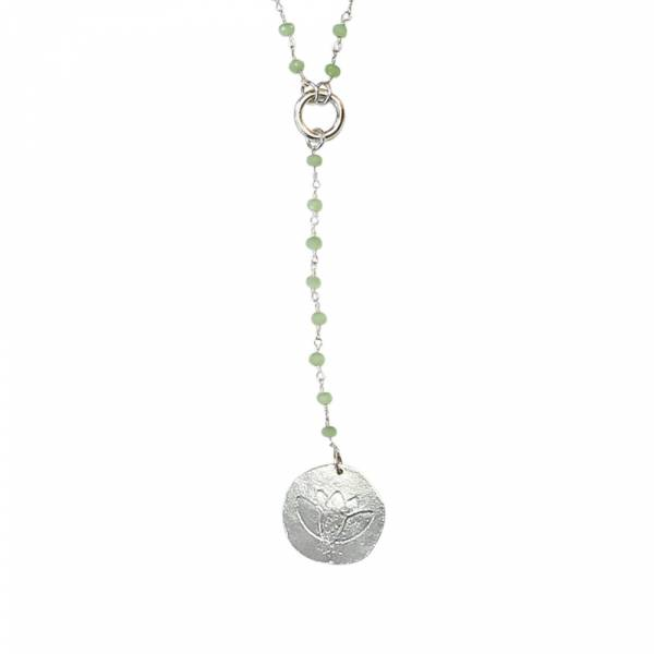 Rosary Green long necklace