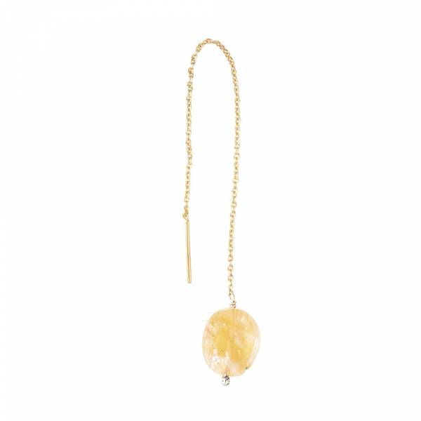 Elegant Citrine Gold Earring