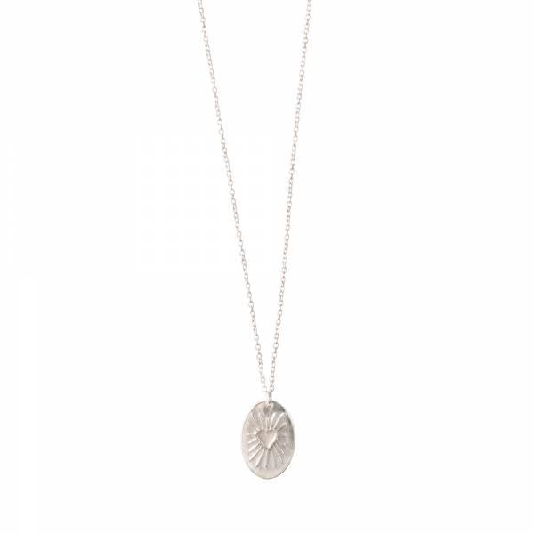 Wonderful Herz Silber Halskette