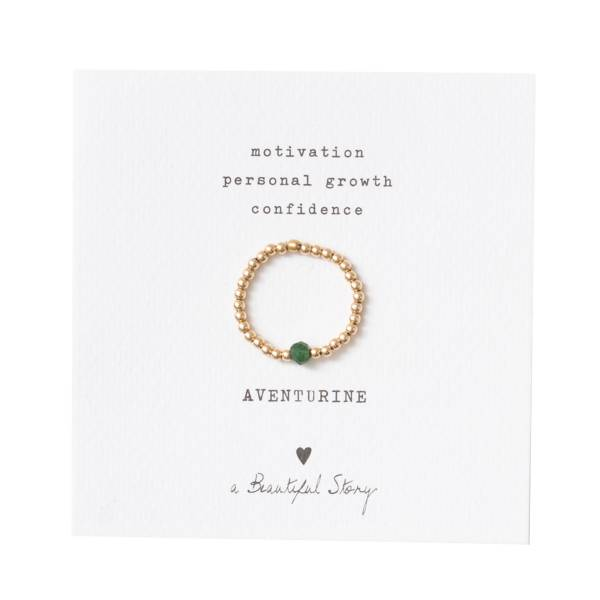 Sparkle Aventurine Gold Ring M/L