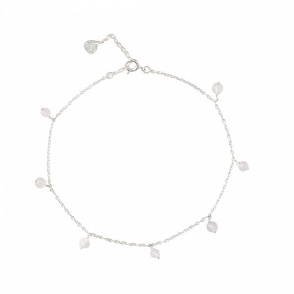 Adore Rose Quartz Sterling Silver Anklet