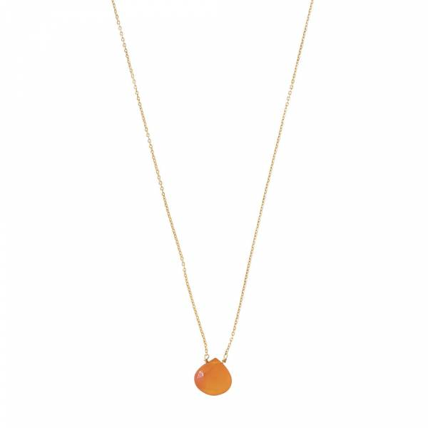 Divine Carnelian Gold Necklace