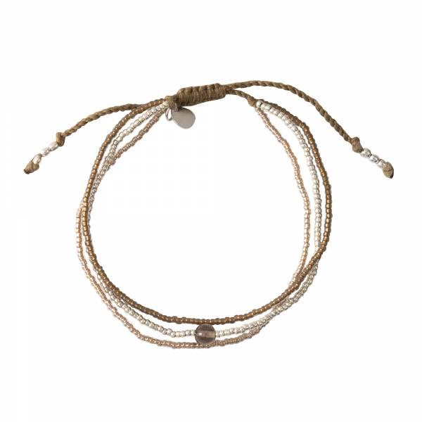 Bloom Rookkwarts Zilver Armband