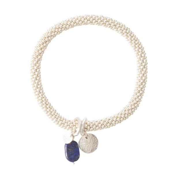 Jacky Lapis Lazuli Butterfly Silver Bracelet