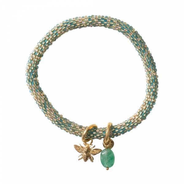 Jacky Multi Color Aventurine Gold bracelet