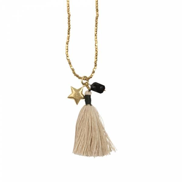 Bloom Zwarte Onyx ster goud ketting