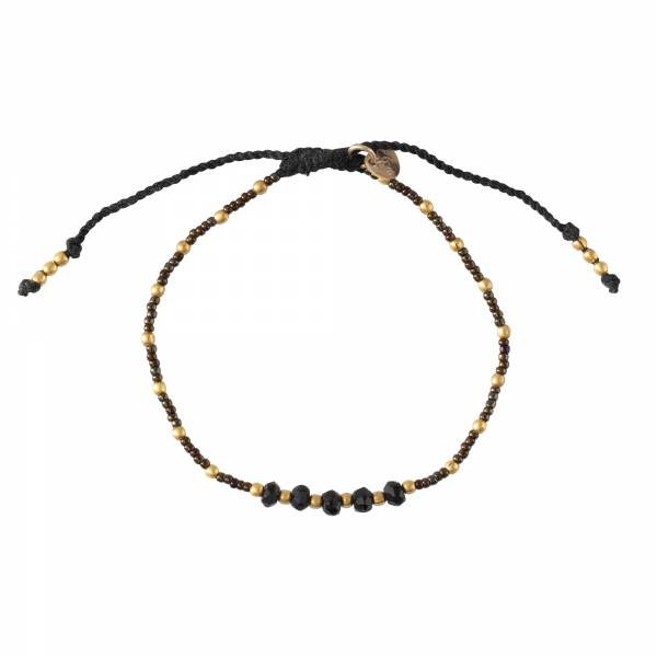 Family Black Onyx Gold Bracelet