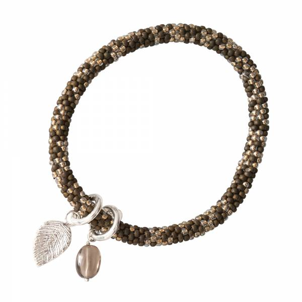 Jacky Multi Color Rauchquarz Silber Armband