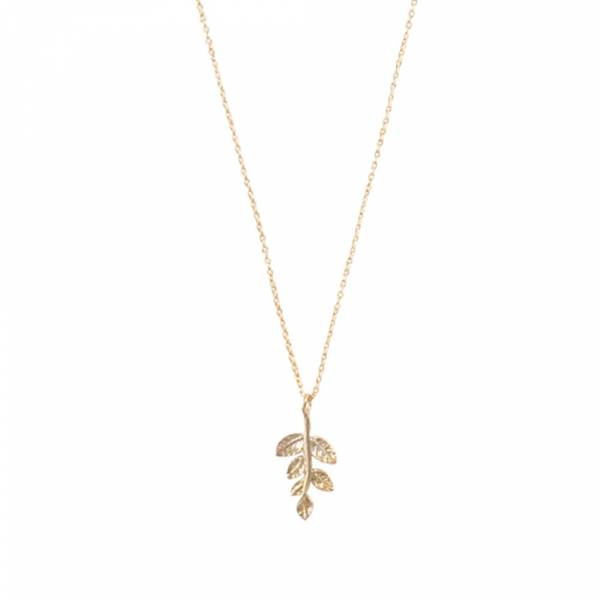 Delicate Branch Sterling Silver Gold-plated Necklace